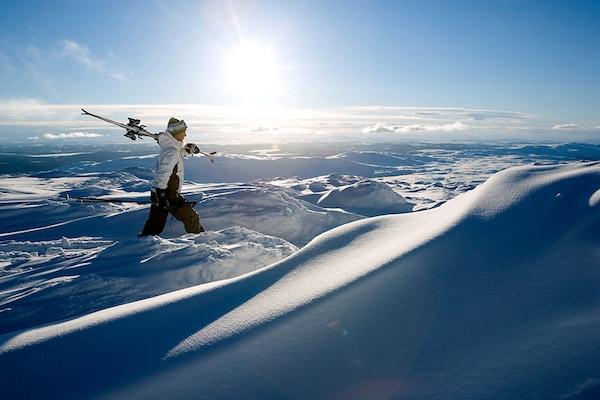 Wintersport in Schweden