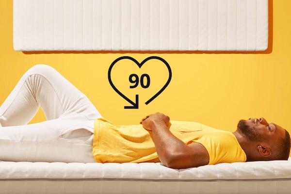 Wir geben dir 90 Nächte Zeit, damit du deine Matratze bei dir zuhause in deinem eingenen Bett ausprobieren kannst.