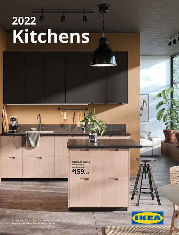 Wood front METOD kitchen with Island