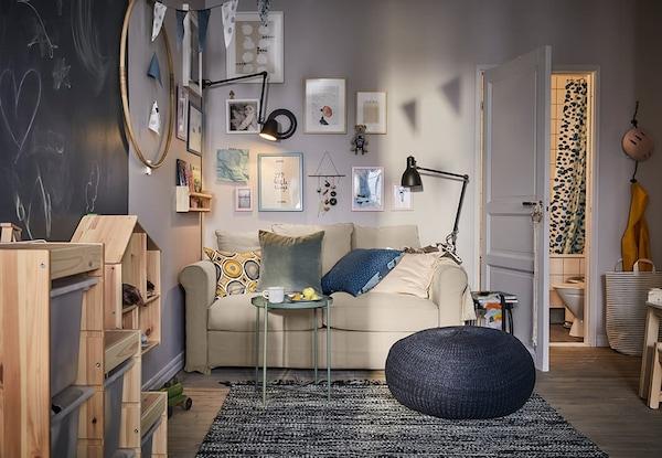 woonkamer-situatie-wonen-met-je-zoon-IKEA wooninspiratie