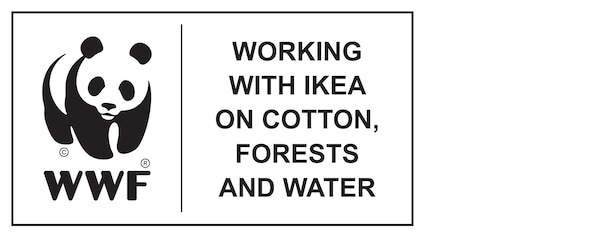 WWF, a cooperar com a IKEA na gestão da produção de algodão, das florestas e da água, logótipo.