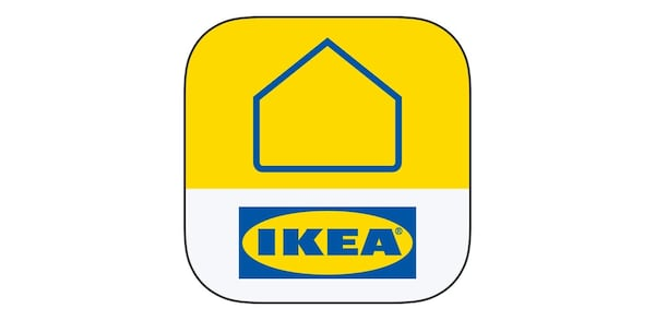 Yellow and blue IKEA Home smart logo for the IKEA Home smart app.