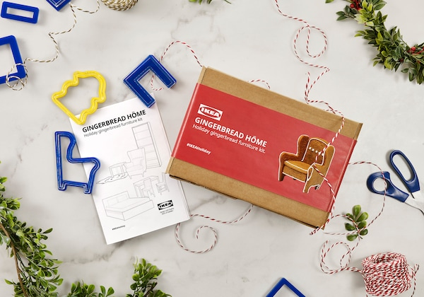 You could win an IKEA gift card plus an IKEA gingerbread furniture kit!
