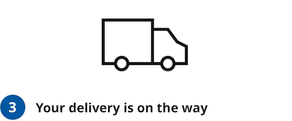 Your delivery is on the way