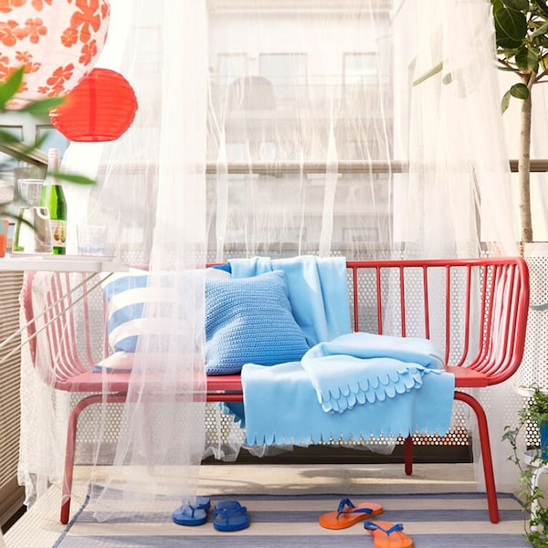 You're 4 steps away from a beach cafe balcony