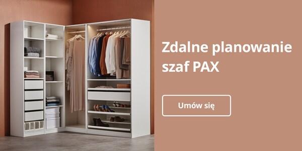 Zdalne planowanie szafy PAX. Umów się.