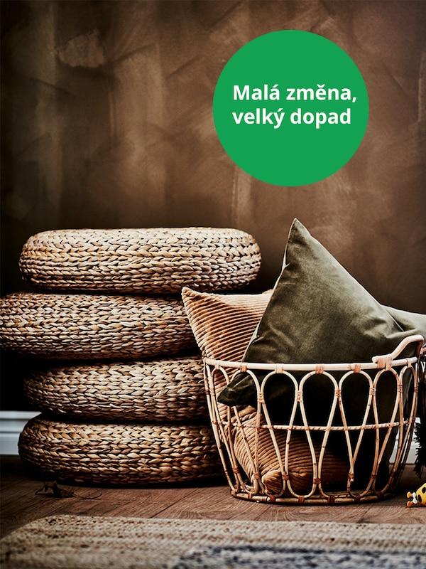 Židle ALSEDA vyrobené z banánového vlákna, což je obnovitelný materiál.
