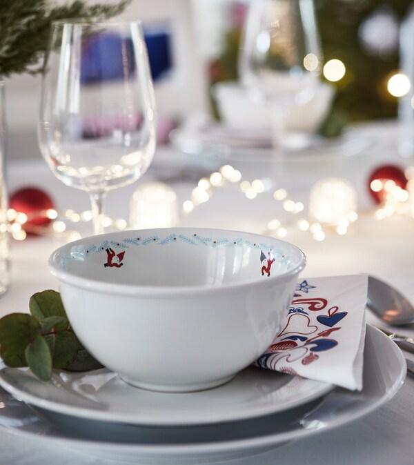 Зимняя коллекция миска и бокал