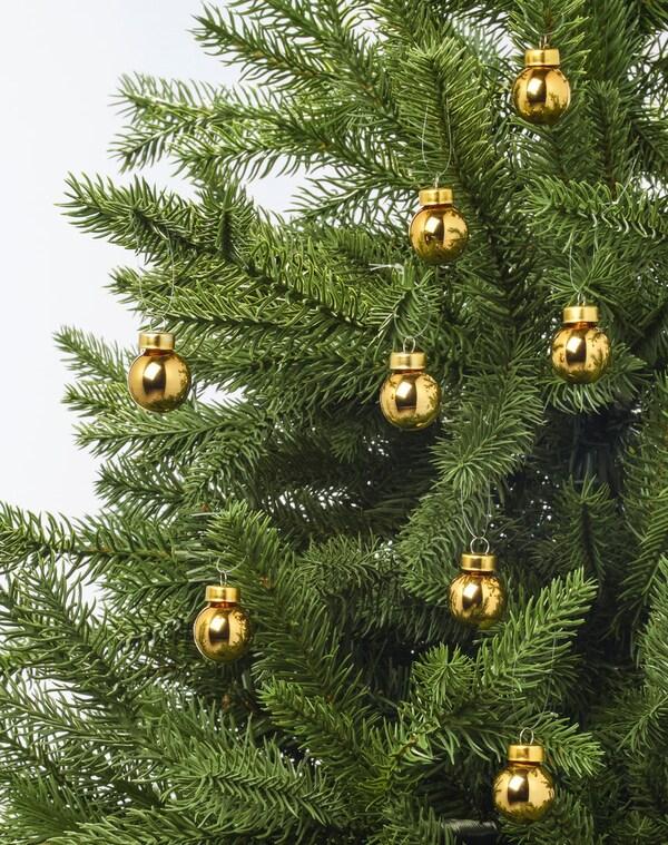 Зимняя коллекция украшение шар золотой и ель
