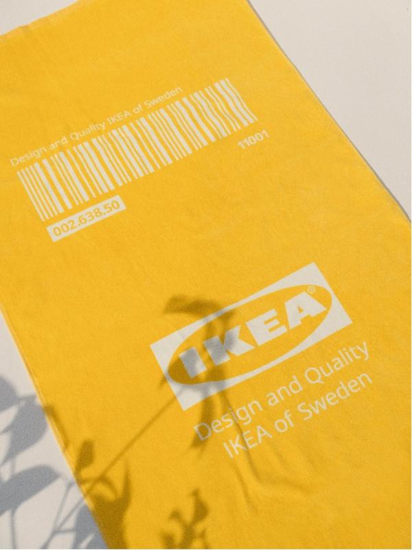 Žltá osuška z limitovanej kolekcie EFTERTRÄDA.