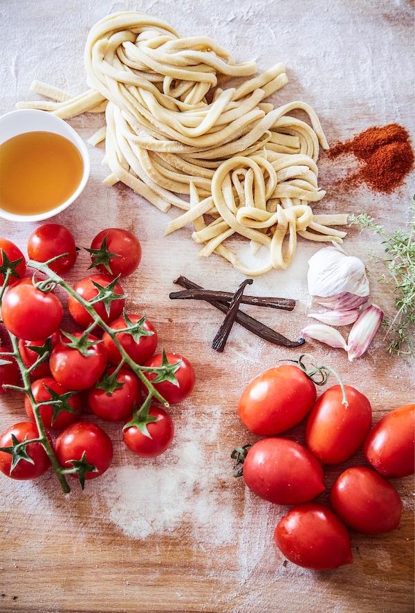 Zutaten für Elisabettas Pastagericht.