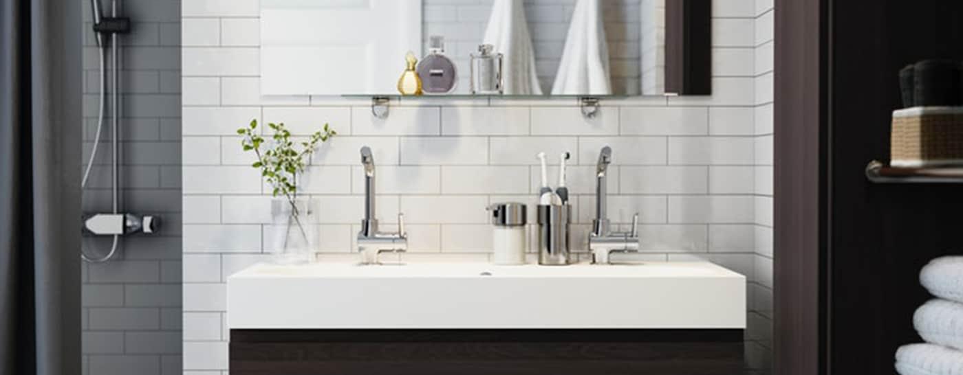 Badkamer Ideeen Grijs Wit.Creeer Je Nieuwe Badkamer Ikea