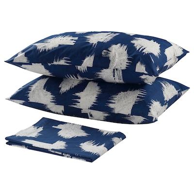 ÄNGLATÅRAR Flat sheet and 2 pillowcase, blue, 240x260/50x80 cm
