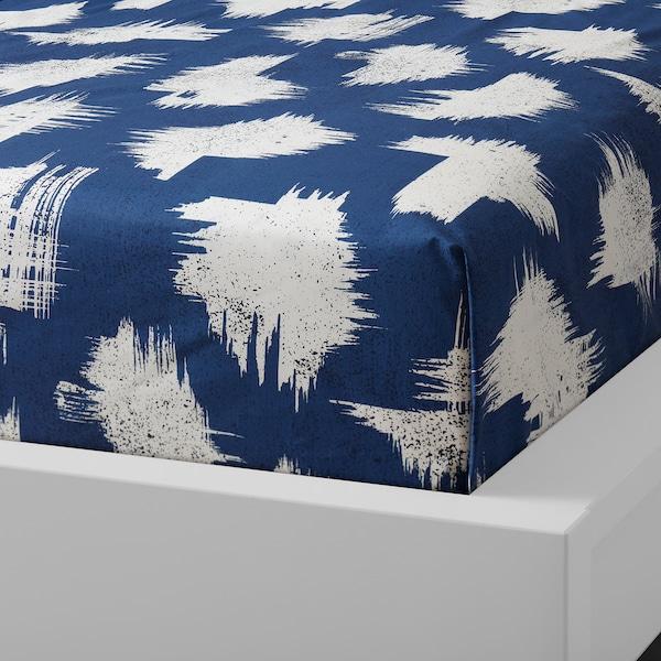 ÄNGLATÅRAR flat sheet and 2 pillowcase blue 200 /inch² 2 pack 50 cm 80 cm 240 cm 260 cm