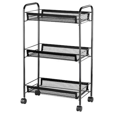 ALSNAREN Trolley, black, 26x48x77 cm