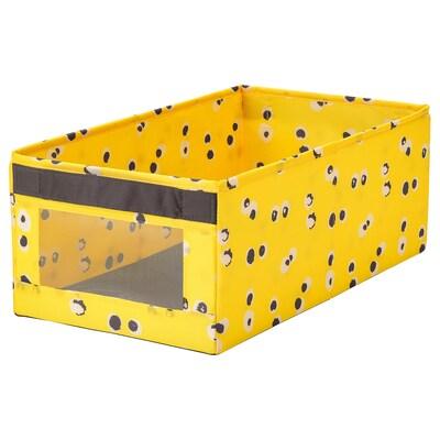 ANGELÄGEN Box, yellow, 25x44x17 cm
