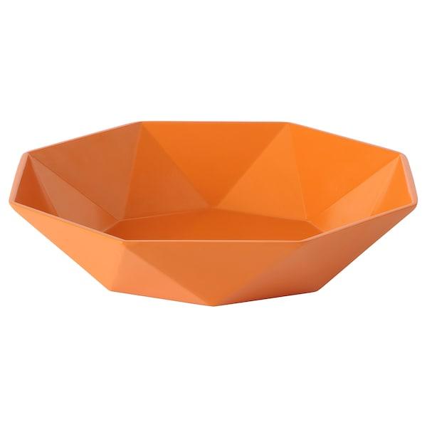 ARBETE Decorative bowl, orange, 35 cm