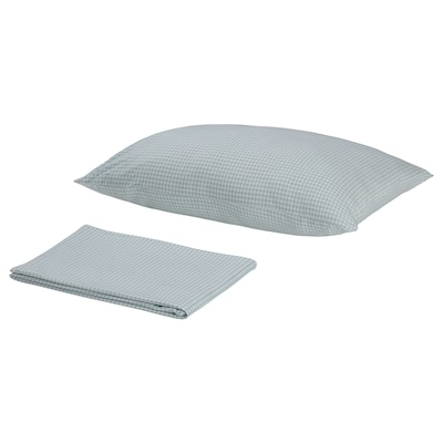 BALDERSBRÅ Flat sheet and pillowcase, blue, 150x250/50x80 cm