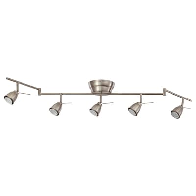 BAROMETER ceiling track, 5-spots nickel-plated 35 W 131 cm 6.5 cm