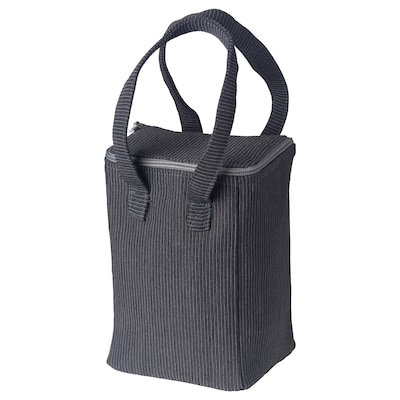 BERGGYLTA Lunch bag, black, 14x11x22 cm
