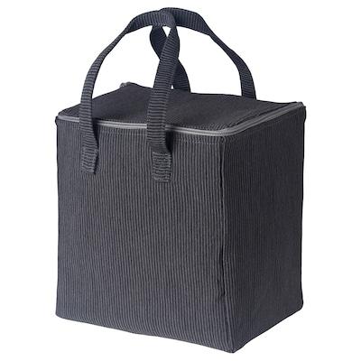 BERGGYLTA Lunch bag, black, 23x18x25 cm