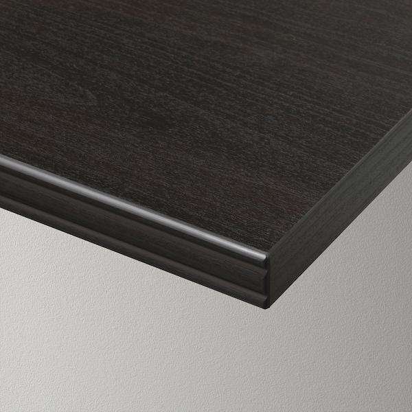 BERGSHULT Shelf, brown-black, 120x20 cm
