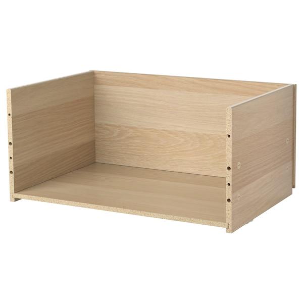 BESTÅ Drawer frame, white stained oak effect, 60x25x40 cm