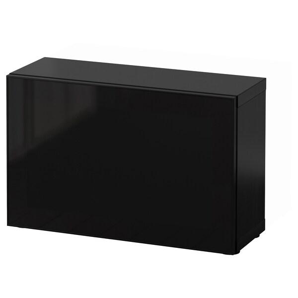 BESTÅ shelf unit with glass door black-brown/Glassvik black/smoked glass 60 cm 20 cm 38 cm