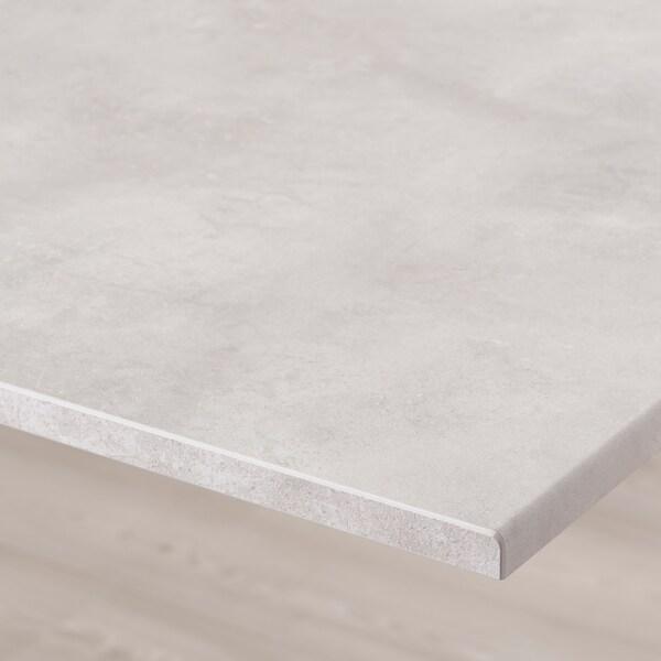 BESTÅ Top panel, concrete effect/light grey, 180x42 cm