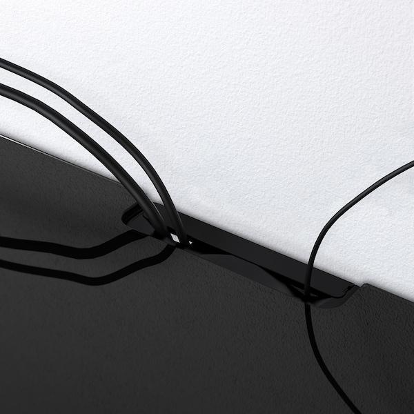 BESTÅ Top panel for TV, glass black, 120x40 cm