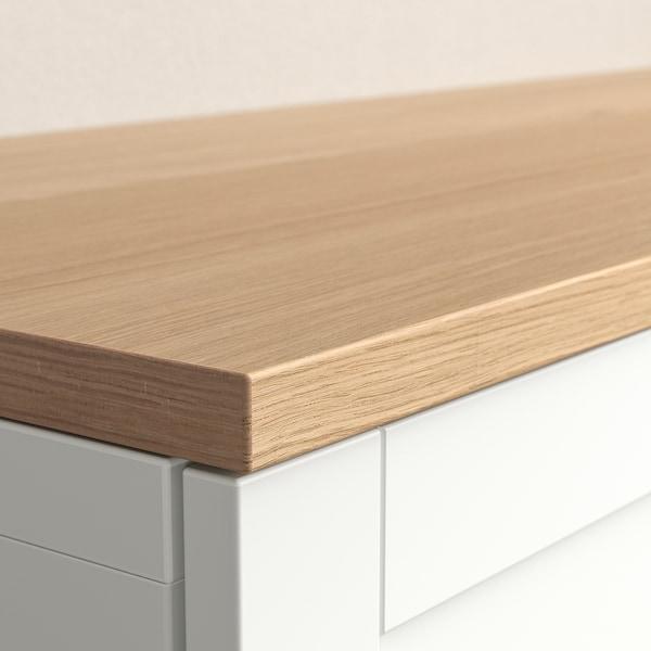 BESTÅ Top panel, oak veneer, 120x42 cm