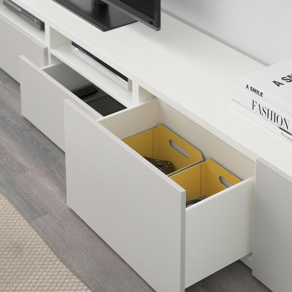 "BESTÅ TV storage combination white/Lappviken light grey 240 cm 204 cm 20 cm 40 cm 50 """