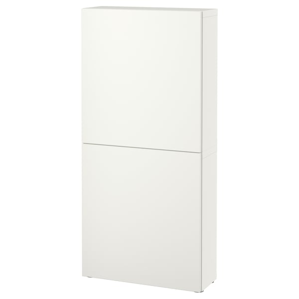 BESTÅ Wall cabinet with 2 doors, Lappviken white, 60x22x128 cm