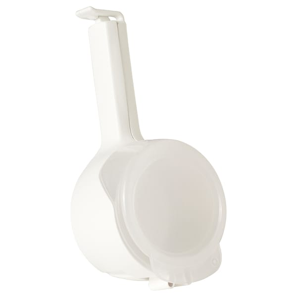 BEVARA Seal and pour bag clip, white, 1 pack