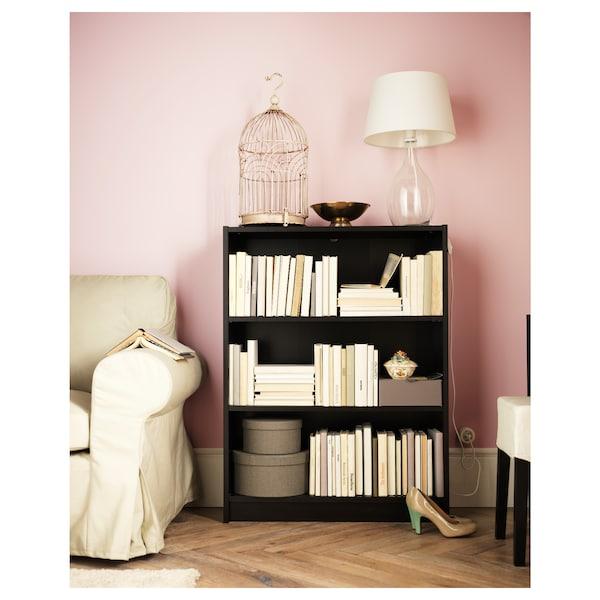 BILLY Bookcase, black-brown, 80x28x106 cm