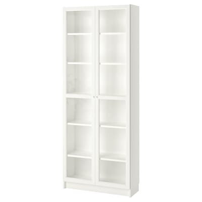 BILLY / OXBERG Bookcase, white, 80x30x202 cm