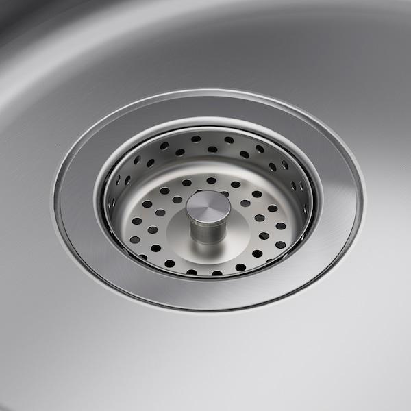 BOHOLMEN Inset sink, 1 bowl, stainless steel, 45x15 cm