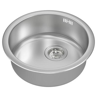 BOHOLMEN inset sink, 1 bowl stainless steel 15 cm 45 cm