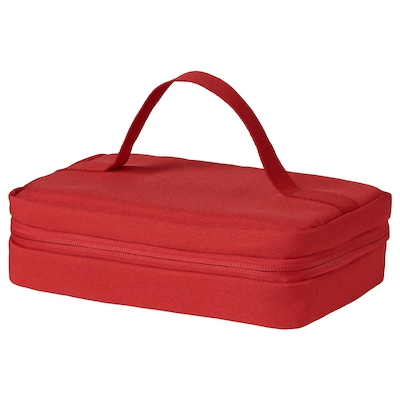 BOKKREMLA Lunch bag, red, 23x15x8 cm