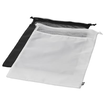 BRODERLIG Laundry bag, black/white, 34x50 cm