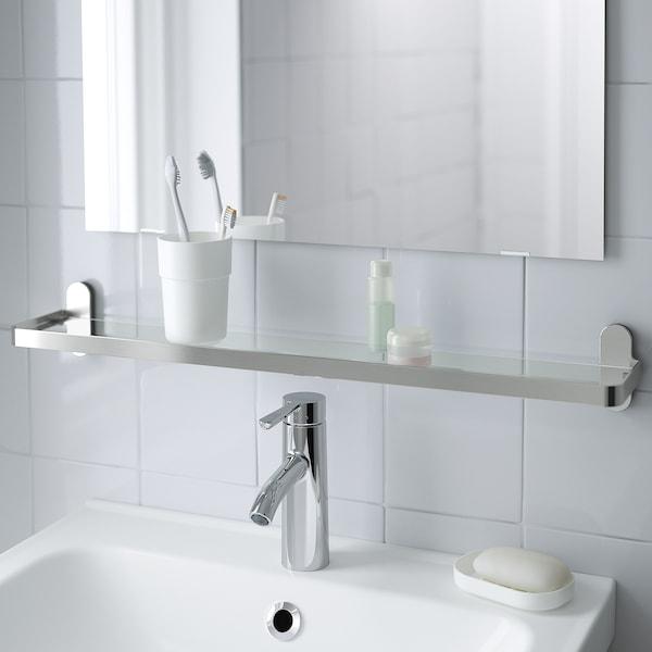 BROGRUND Glass shelf, 67x11 cm