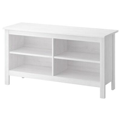 BRUSALI TV bench white 120 cm 36 cm 62 cm 25 kg 20 kg