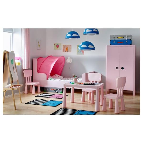 BUSUNGE Wardrobe, light pink, 80x140 cm
