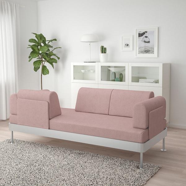 DELAKTIG 3-seat sofa Gunnared light brown-pink 79 cm 204 cm 84 cm 45 cm 20 cm 200 cm 80 cm 45 cm