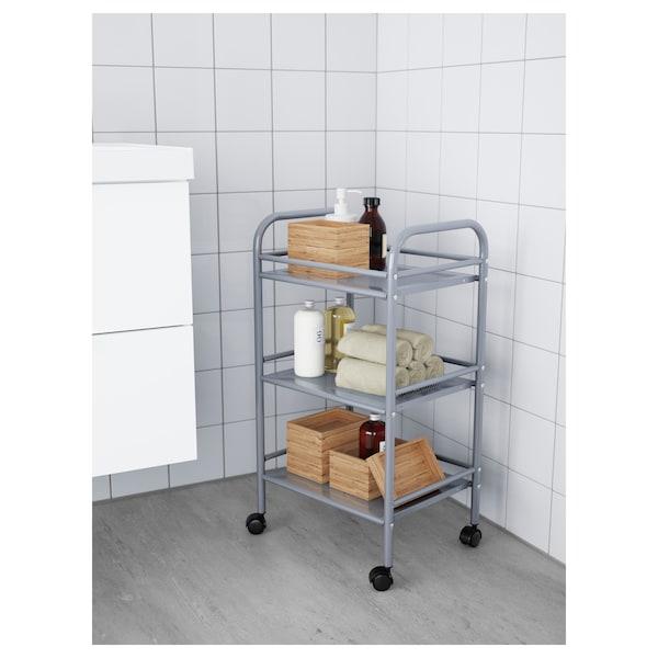 DRAGGAN Trolley, silver-colour, 41x32x75 cm