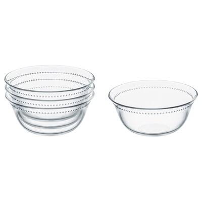 DRÖMBILD Bowl, clear glass, 15 cm