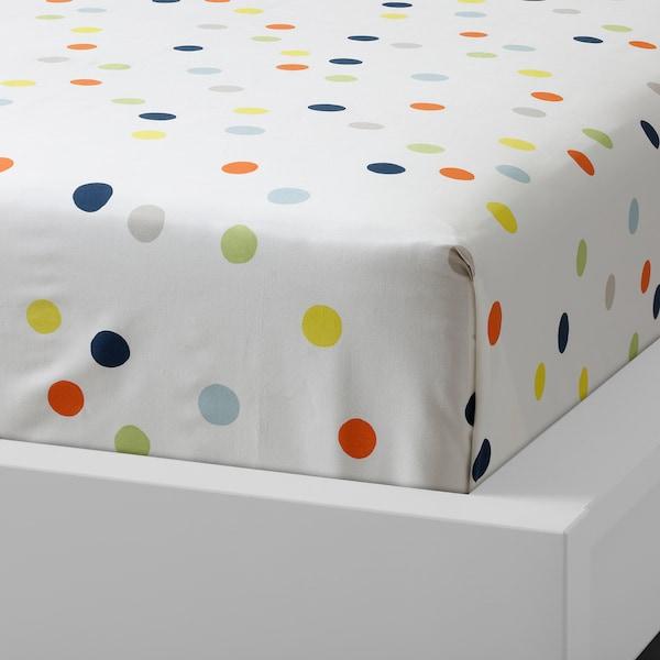 DRÖMLAND Flat sheet and pillowcase, multicolour, 150x250/50x80 cm