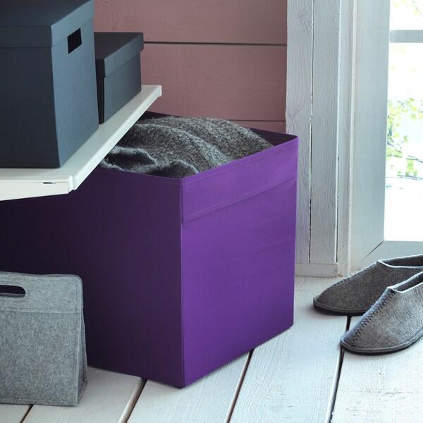 DRÖNA box purple 33 cm 38 cm 33 cm