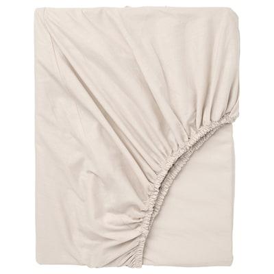 DVALA Fitted sheet, beige, 180x200 cm