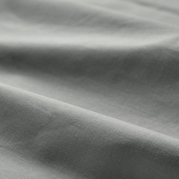 DVALA Fitted sheet, light grey, 160x200 cm